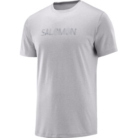 Salomon Agile Graphic Running T-shirt Men grey